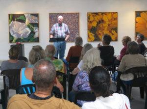 Dave Barnett gives an Art Talks lecture